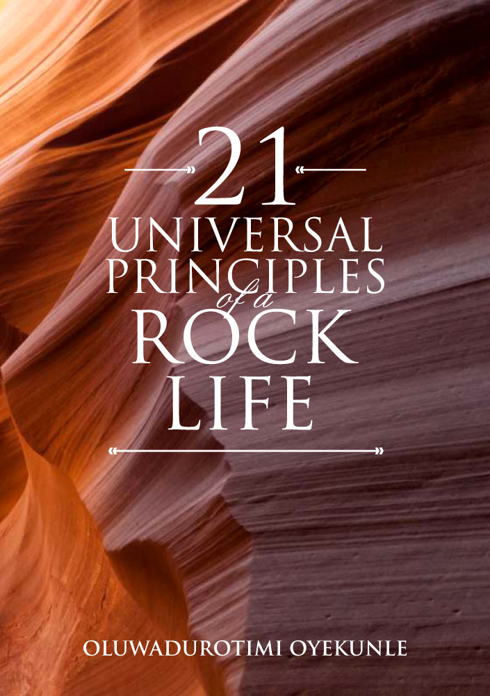 Book Cover Design: 21 Universal Principles of the Rock Life