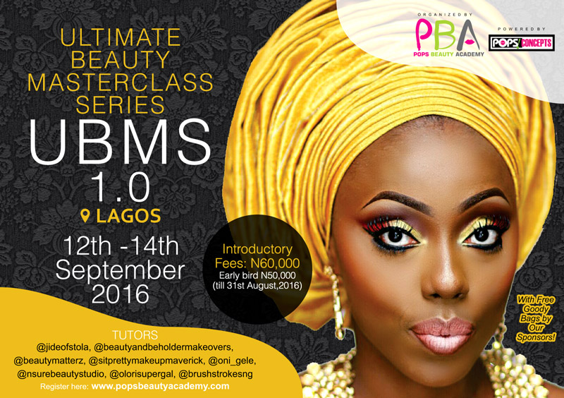 Flyer Design: Ultimate Beauty Masterclass Series by POPs Beauty Academy