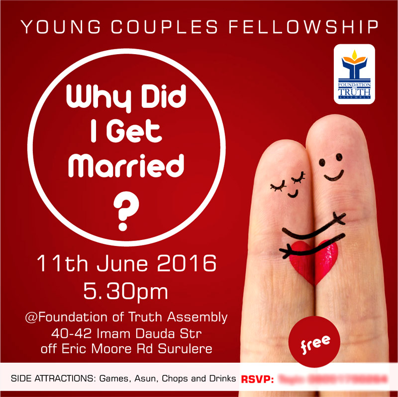 Instagram/E-Flyer: Why Did I Get Married by FOTA
